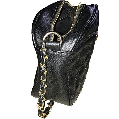 Xardi London pequeñas bolsas de hombro acolchada las mujeres niñas sillín Ladies Cruz Cuerpo de piel sintética UK negro