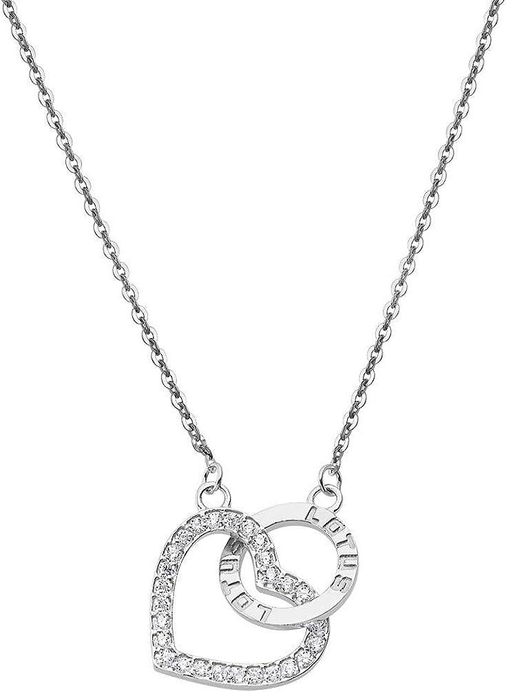 Lotus Silver Collar Plata de Ley LP1864-1/1 Colgante aro y corazón