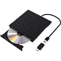 Grabadora CD/DVD Externa USB 3.0,Lectora Portátil CD/DVD, Unidad de DVD Externa Ultra Slim Portátil CD/DVD Rewriter…