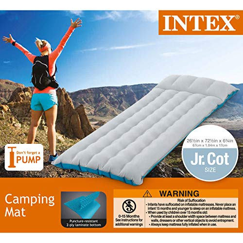Intex Inflatable Camping Mattress, 72.5″ x 26.5″ x 6.75″