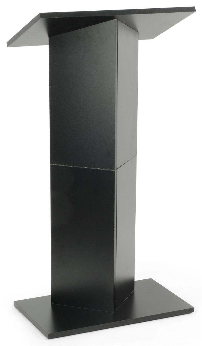 Displays2go Portable Lectern Lightweight Column Podium with Folding Design for Transport, Black (LCPMKDBK) by Displays2go