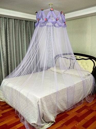 Princess Absolute Rose Ruffle Mosquito Netting Princess Violet Canopy by Ka bed canopy net