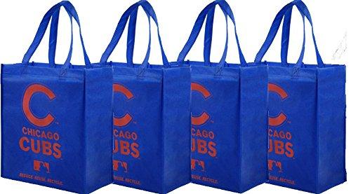 Chicago Cubs Printed Non-Woven Polypropylene Reusable Grocery Tote Bag