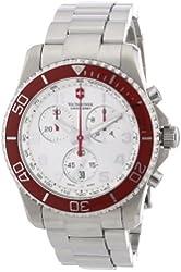 Victorinox Swiss Army Men's 241434 Maverick GS Silver Chronograph Dial Watch