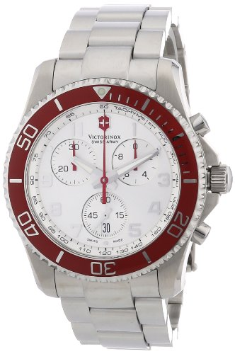 Victorinox Swiss Army Men's ' Maverick GS Swiss Quartz Stainless Steel Sport Watch, Color:Silver-Toned (Model: 241434 -