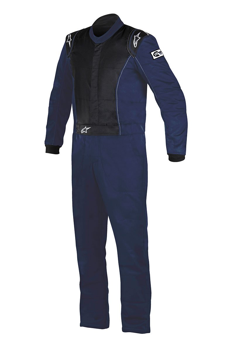Alpinestars 3355916-7100-54 Knoxville Suit, Navy Blue, Size 54, SFI 3.2A Level 5/FIA 8856-2000, 2-Layer, Boot-Cut