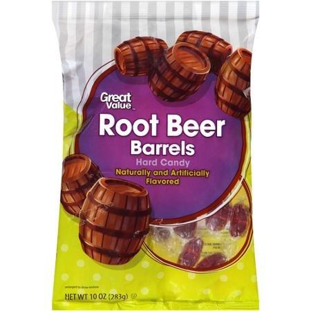 Great Value Root Beer Barrels Hard Candy, 10 oz]()
