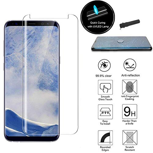 Price comparison product image For Samsung Galaxy Note 9, Lovewe Liquid UV 3D Curved Tempered Glass Screen Protector