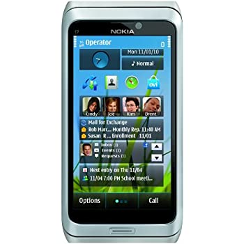 Nokia E7-00 Unlocked GSM Phone with Touchscreen, QWERTY Keyboard, Easy E-mail Setup, GPS Navigation, 8 MP Camera--U.S. Version with Warranty (Silver)