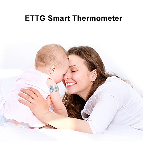 Smart Thermometer,ETTG Baby Intelligent Thermometer with Portable Bluetooth 4.0 for Baby Kids Children