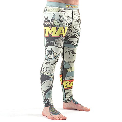 Fusion Base Layer Pant - Fusion Fight Gear Batman Pop Art BJJ Spats Compression Pants Leggings (M)