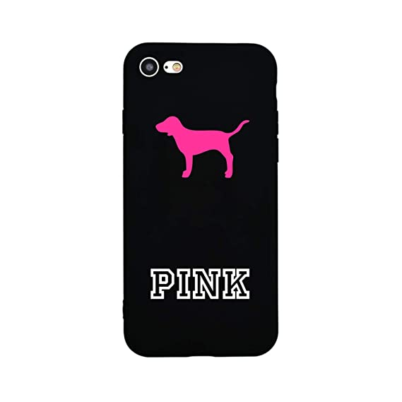 Frozac Cute for Girl Couples Pink Marble Soft Silicon Case for iPhone 7 8 Plus X Phone Cover Case for iPhone 6s 6 Plus 5s SE Love Dog,Black Soft ...