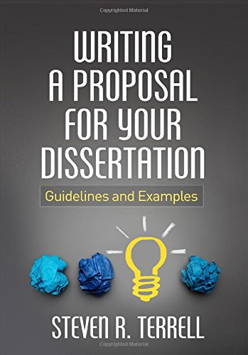 Writing A Proposal F/Your Dissertation