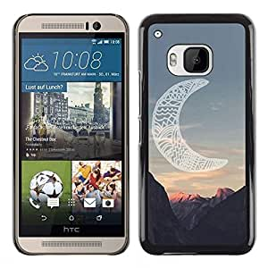 FlareStar Colour Printing Moon Native American Indian Canyon cáscara Funda Case Caso de plástico para HTC One M9