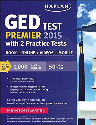 Kaplan GED Test Premier 2015 with 2 Practice Tests: Book + Online ...