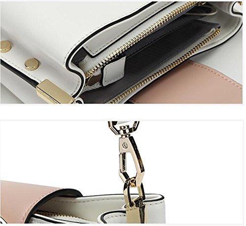 Female Zip Shoulder Baguettes Top New Handbag handle Color Totes Fashion Bag Genuine Solid Closure Business Bags Green 0TYIq