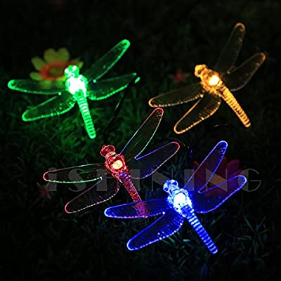 iShining Solar String Lights Dragonfly Waterproof Decoration Fairy Lights for Outdoor, Gardens, Homes, Wedding, Christmas Party,etc (30LEDs 19.7Ft 8Modes Multi Color)