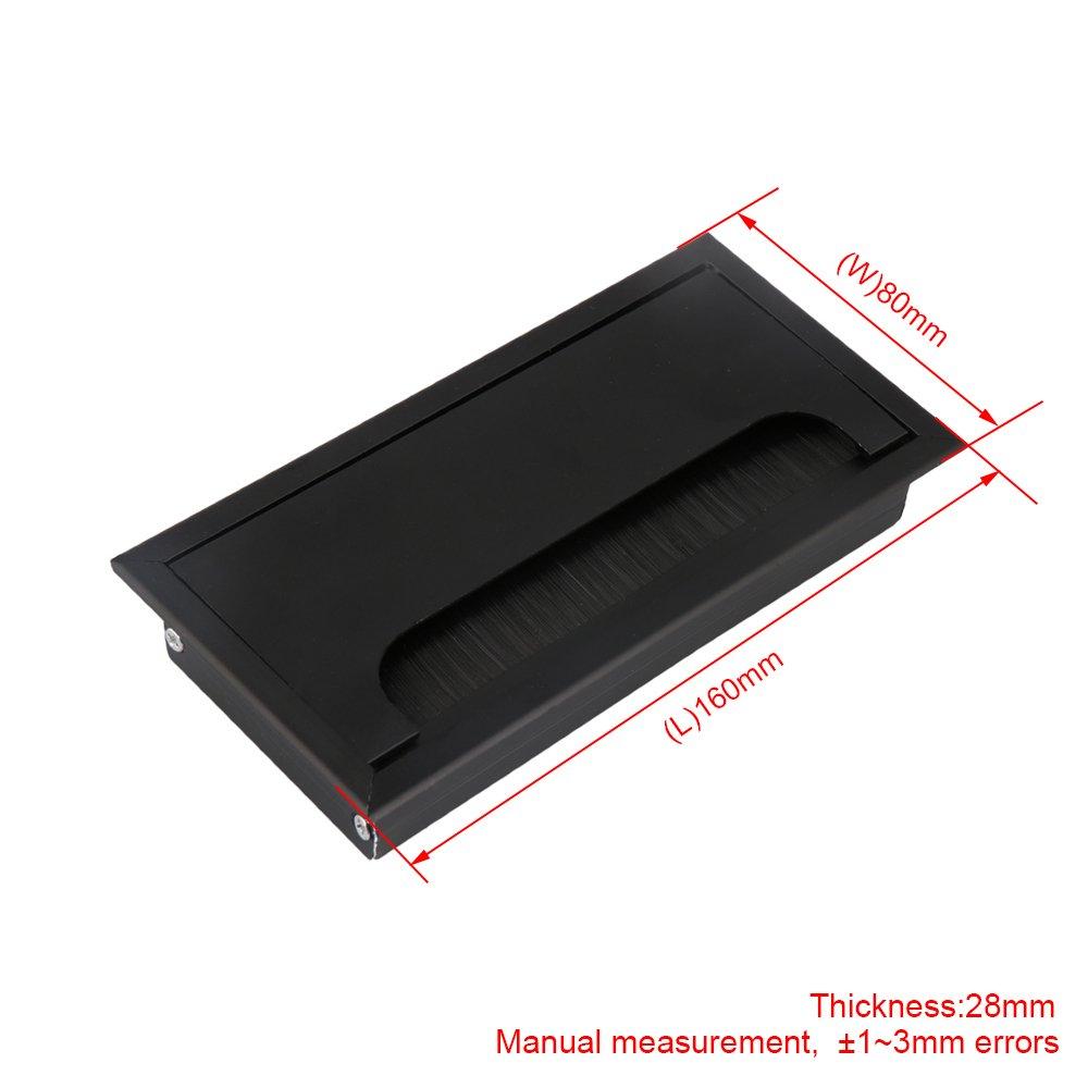 BQLZR 16 cm negro aleación de aluminio mesa escritorio Rectangular ...