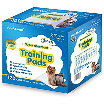 All-Absorb 120 Count Training Pad, 17.5 by 23.5-Inch, White and Blue