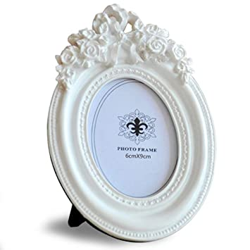 Amazon.com - Giftgarden 2.5x3.5 Oval Picture Frame White Frames ...