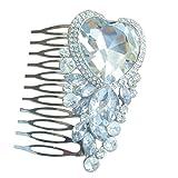 Sindary Wedding Headpiece Silver-tone Clear Rhinestone Crystal Bridal Hair Comb Wedding Hair Jewelry