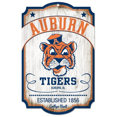NCAA College Vault Auburn Tigers 11-by-17 Wood Sign (Vault Tigers)