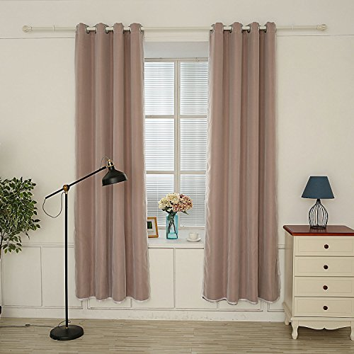 Hello Laura – 2 Layer Triple Weave Thermal Insulated Blackout Grommet Window Curtain 53″ x 95″ | 100% Polyester 1 Panel (Dark Brown) Review