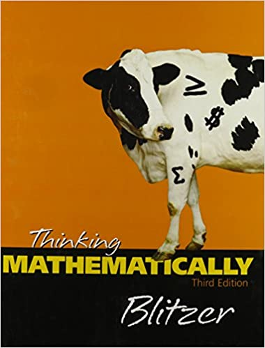 Thinking mathematically robert blitzer 9780131920118 amazon thinking mathematically fandeluxe Images