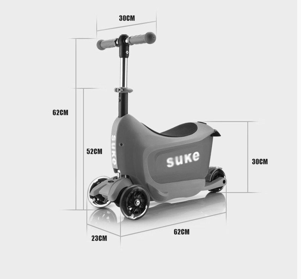 Baby carriage Scooter para niños (de 2 a 5 años puede sentarse) scooter de pedales multifunción de cuatro ruedas y tres ruedas (Color : 5): Amazon.es: ...