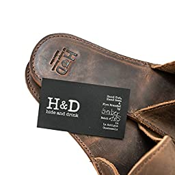 Medium Leather House Slippers For Men Handmade by Hide & Drink :: Bourbon Brown (Men\'s 9.5-10.5)