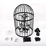 Black Vintage Iron Birdcage Crystal Chandelier Light Lamp Restaurant Home Shop Decor