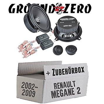 Renault Megane 2 – Ground Zero gzic – Compostador 13 x 13 cm Sistema de Altavoces