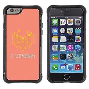 Suave TPU GEL Carcasa Funda Silicona Blando Estuche Caso de protección (para) Apple Iphone 6 PLUS 5.5 / CECELL Phone case / / Extraordinary Be Unique Quote Express Life /
