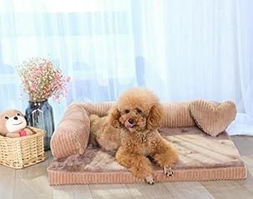 Whyyudan Sofá Cama para Mascotas Sofá removible y Lavable para Perros Mascotas Colchón Nestress Suministros para Mascotas Caqui: Amazon.es: Productos para ...