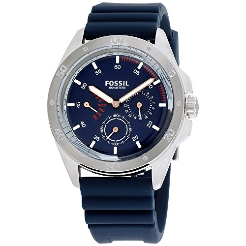 Fossil Mens CH3062 Sport 54 Multifunction Blue Silicone Watch -  Fossil Watches