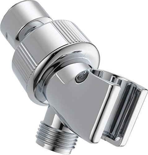 (Delta Faucet U3401-PK Adjustable Shower Arm Mount, Chrome)
