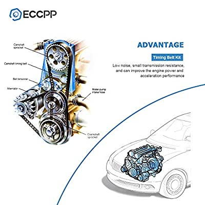 ECCPP Timing Belt Water Pump Kit Fit for 2003 2004 2005 2006 2007 2008 2009 2010 2011 2012 2013 2014 2015 Acura MDX /2005 2006 2007 Honda Accord 3.0L 3.2L 3.5L 3.7L V6 Gas SOHC: Automotive