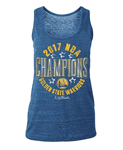 5th & Ocean NBA Golden State Warriors Women's Tri Blend Racer Back Tank T-Shirt, Blue, X-Large (5th And Ocean Womens Shirt)