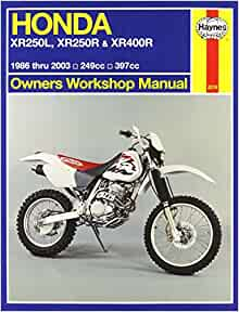Honda xr250l xr250r xr400r owners workshop manual 1986 2003 honda xr250l xr250r xr400r owners workshop manual 1986 2003 alan ahlstrand 9781563924972 amazon books fandeluxe Images