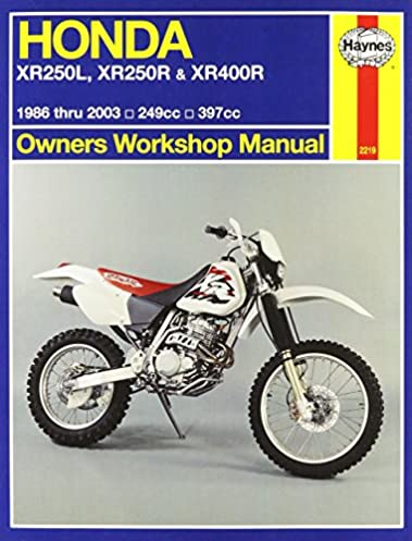 honda xr250l xr250r xr400r owners workshop manual 1986 2003 rh amazon com manual honda xr250r manual honda xr250r