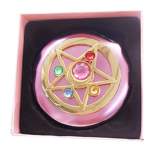 FYMSM Sailor Moon Moonlight Memory Series Crystal Star Mirror Case Cosmetic Make up Mirror Gift