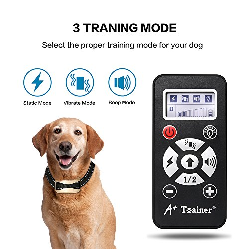 NEW 2018 MODEL 800 Yards Range Remote Dog Training Collar, Rechargeable and IPX6 Waterproof Dog Shock Collar with Beep, Vibration and Shock, Electric Dog Collar for Puppy, Small, Medium and Large Dogs (New Remote Electric)