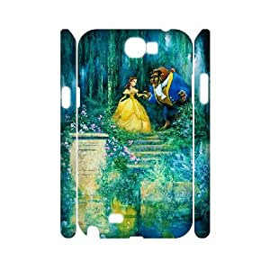 3D Beauty and the Beast Garden Samsung Galaxy Note 2 Cases, [White]
