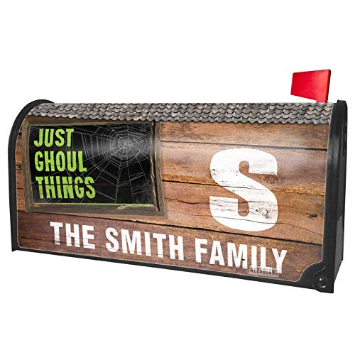 (NEONBLOND Custom Mailbox Cover Just Ghoul Things Halloween Creepy Green Spider)
