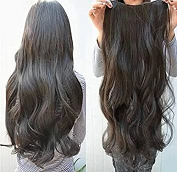 One piece wavy clip in hair extensions 1b natural black amazon one piece wavy clip in hair extensions 1b natural black pmusecretfo Images