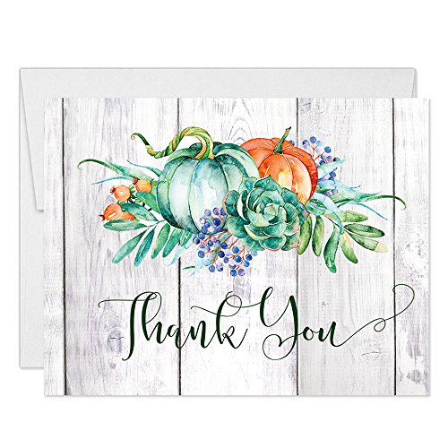 Thanksgiving Holiday Meal Thank You Cards with Envelopes...