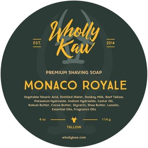 Shaving Milk - WhollyKaw Donkey Milk Shaving Soap, Monaco Royale