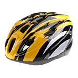 Andoer Cycling Bicycle Adult Bike Handsome Carbon Helmet with Visor Yellow + Black