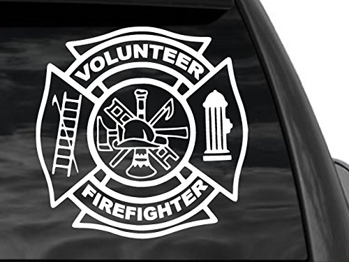 Volunteer Firefighter Car, Truck Suv Window Sticker Decal 12