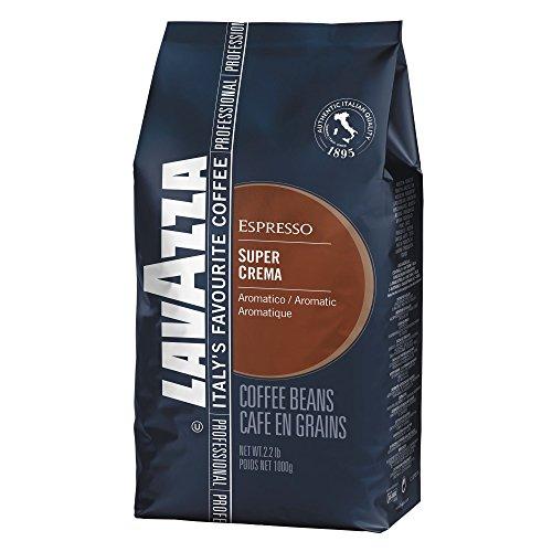 Lavazza Super Crema Espresso - Whole Bean Coffee, 2.2-Pound Bag (Pack of 4) by Lavazza